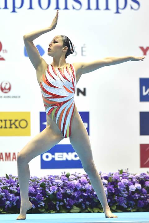 乾友紀子選手 ハイレグ 画像