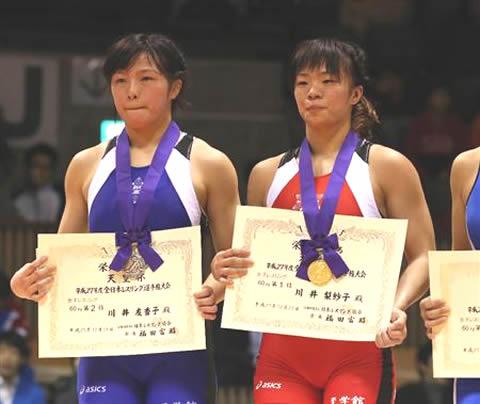 川井梨紗子と妹・川井友香子