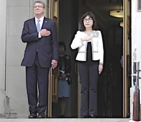 稲田朋美大臣 アメリカ訪問 カーター国防長官